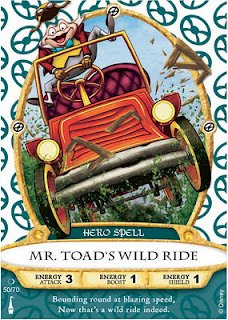 Sorcerers Mask of the Magic Kingdom Game, Walt Disney World - Card #50 - Mr. Toad's Wild Ride - 1