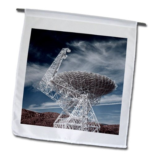 Fl_97091_1 Danita Delimont - Technology - Wv, National Radio Astronomy Observatory Telescope - Us49 Wbi0070 - Walter Bibikow - Flags - 12 X 18 Inch Garden Flag