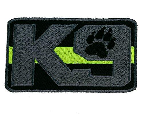K9 Dog Thin Green Line Border Patrol 2x3.5 inch Patch IVANP4602