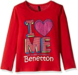#8: United Colors of Benetton Baby Girls' T-Shirt (16A3094C12ADIK111Y_Red_1Y)