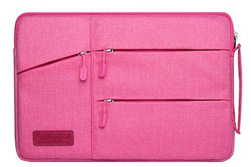 Gearmas macbook pro 15 ケース macbook ケース ウルトラブック/ネットブック用 ケース マウス コンセント 入れ オシャレ 撥水 PCバッグ (15.4, ピンク)