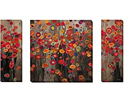 Parade and Garden Parade I & II by Don Li-Leger 3-pc Premium Gallery Wrapped Canvas Giclee Art Set (Ready to Hang)