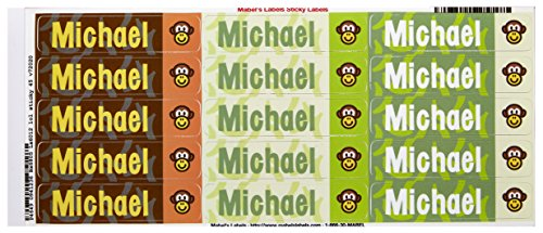 Mabel'S Labels 40845077 Peel And Stick Personalized Labels With The Name Michael And Monkey Icon, 45-Count