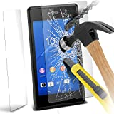 ( Pack Of 1 ) Sony Xperia E3 Case Protective Stylish Fitted Tempered Glass Crystal Clear LCD Screen Protectors Packs With Polishing Cloth & Application Card by ONX3