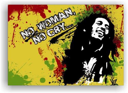 Bob Marley immagine 100x 70cm stampata su tela telaio stampa su tela