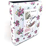 Hellohelio Fuji Instax Photo Album for Fuji Instax Mini 7s /8/8+/70/90/25/50s/ Polaroid Cameras (White)