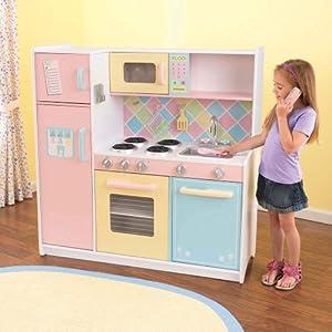 kidkraft large wooden precious play kitchen. Black Bedroom Furniture Sets. Home Design Ideas