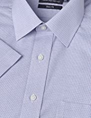Cotton Rich Non-Iron Slim Fit Overchecked Shirt
