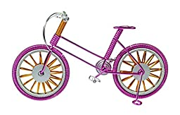Metal Wire Gift Art Handmade Road Bike for Decorations - Twisted Souvenirs Craft Bicycle Toys- Specialized Cycling Ornaments Charms for Men/women/boys/girls/kids/guys for any occasion. (pink)