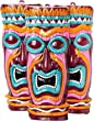 New Decorative Tropical Hawaiian Luau Plastic Tiki Mask