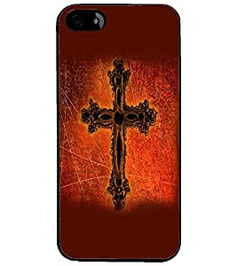 PrintDhaba Cross D-2383 Back Case Cover for APPLE IPHONE 5 (Multi-Coloured)