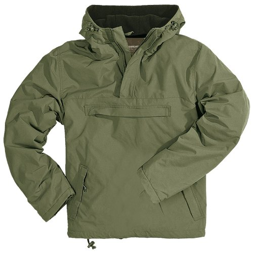 Surplus Windbreaker Hooded Mens Jacket With Fleece Olive