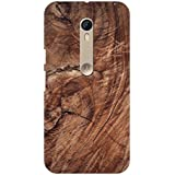 AMAN Brown Colour Wood 3D Back Cover For Motorola Moto X Style