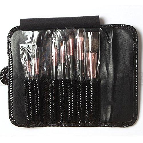 Cexin professionel 7 pinceaux maquillage exquis avec trousse pinceaux set