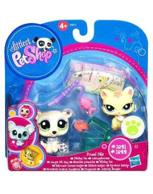Picture of Hasbro Littlest Pet Shop Prized Pet Pairs Series 1 Figures Cat Polar Bear (B004MUA3PQ) (Hasbro Action Figures)