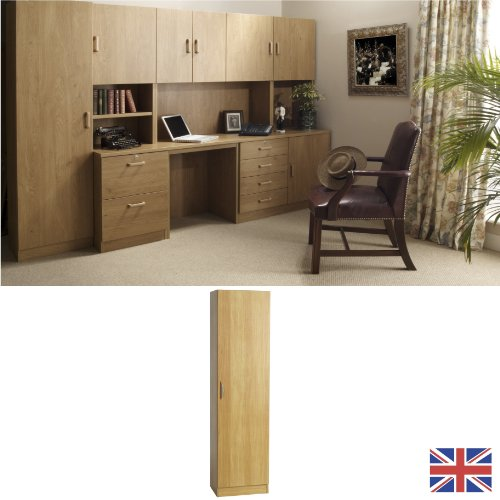 Home Office Furniture - Cupboard - English Oak - Wood Handles - Wood Effect... FOR USE IN: study bedroom lounge conservatory WE ALSO MAKE: cupboard plan chest hideaway desk draw drawers table free standing computer unit skirting clearance