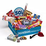 Hometown Favorites 1950s Nostalgic Candy Gift Box, Retro 50s Candy