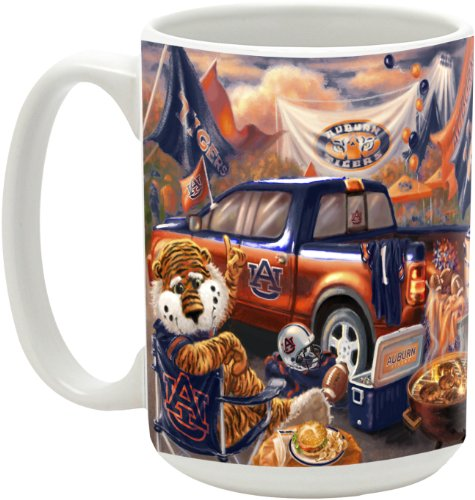 Ncaa Auburn Tigers 15-Ounce Tailgate Series Ceramic Mug