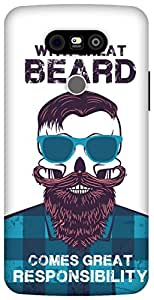 The Racoon Grip printed designer hard back mobile phone case cover for LG G5. (Beard Resp)