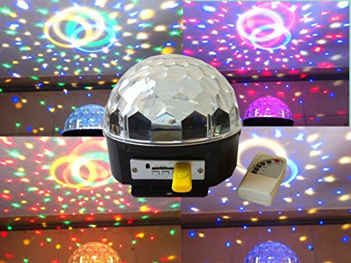 12W Led Mp3 Dj Club Pub Dmx512 Crystal Party Ball Stage Rgb Light Magic Disco