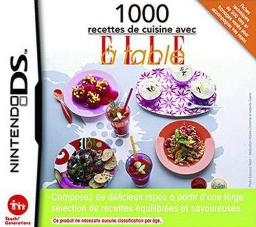 NINTENDO 1000 recettes de cuisine avec ELLE à table [DS] 45496470166 (Search Terms: Jeux vidéo - DS - DS - Party Games)