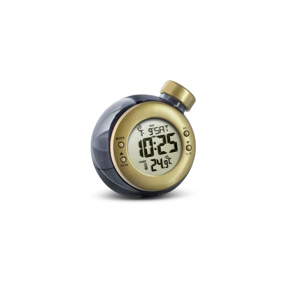 WiKi Water Powered RCC Clock With Temperature   Gold Water Powered RCC Clock with Temperature