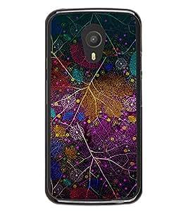 Colourful Leaf Pattern 2D Hard Polycarbonate Designer Back Case Cover for Meizu M1 Note