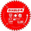 Freud D0740A Diablo 7-1/4 40 Tooth ATB Finishing Saw Blade with 5/8-Inch Arbor, Diamond Knockout, and PermaShield Coating by Diablo
