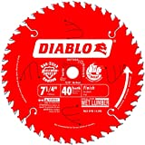 Freud D0740A Diablo 7-1/4 40 Tooth ATB Finishing Saw Blade with 5/8-Inch Arbor, Diamond Knockout, and PermaShield Coating, 10 Pack