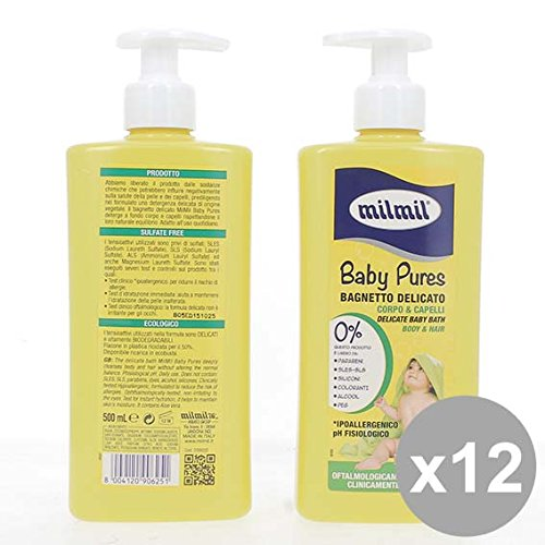 Set 12 MIL MIL Baby Bagnetto Pures 500 Detergenti per bambini