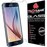 TECHGEAR® Samsung Galaxy S6 (SM-G920 Series) GLASS Edition Genuine Tempered Glass Screen Protector Guard Cover (Galaxy S6)