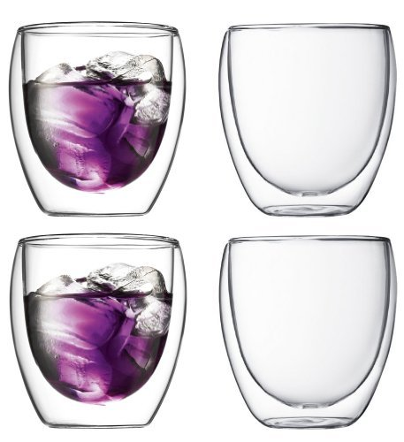 Bodum Pavina Double-wall Insulated 8.5-ounce Glasses, Set of 4 (Bodum Chambord Milk compare prices)