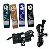 Nightmare Before Christmas Cable Ties - Disney Nightmare Before Christmas Jack Skellington Velcro Cord Straps (4 Pieces)