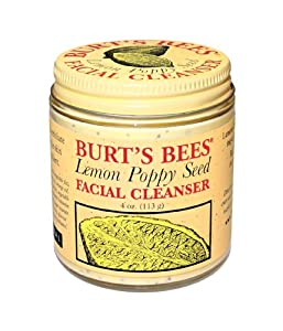Burt's Bees Facial Cleanser, Lemon Poppy Seed, 4-Ounce Jars (Pack of 2)