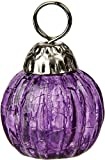 Luna Bazaar Miniature Glass Bauble Place Card Holder (1.25-Inch, Purple)