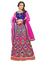 Awesome Womens Stylish Multi Embroidered Lehenga Choli