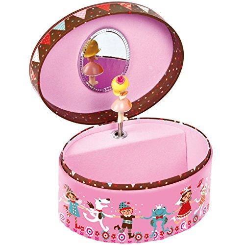 Janod Petrushka Oval Musical Jewelry Box