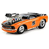 Super 5 Ford Mustang Boss 429 RC Remote Control Muscle Car 1:16 Scale Ready To Run W/ Working Head &