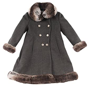 Amazon.com: Rothschild Toddler Girls Charcoal Faux Fur