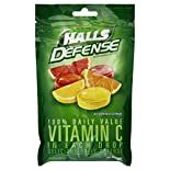 Halls Defense Vitamin C Supplement Drops, Assorted Citrus, 30 drops