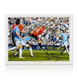 Paul Scholes Hand Signed Manchester United Photo - Header vs Man City