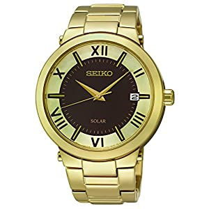 Seiko Women's SNE884 Analog Display Japanese Quartz Gold Watch