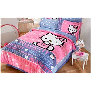 hello kitty smile comforter bedding set full home