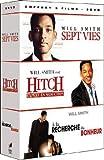 Will Smith : Sept vies / Hitch, expert en séduction / A la recherche du bonheur - coffret 3 DVD