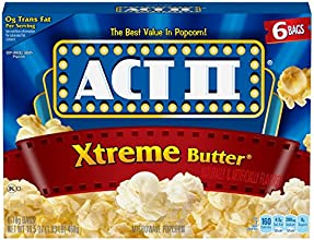 Act II Popcorn Extreme Butter 6 Count Pack of 6