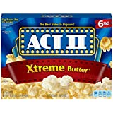Act II Popcorn Extreme Butter, 6 Count (Pack of 6)
