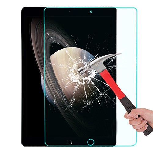 【IVSO】Apple iPad Pro ガラスフィルム, Apple iPad Pro 液晶保護フィルム 強化ガラス・耐指紋、撥油性 表面硬度9H 厚み2.5D 高透過率液晶保護フィルム 反射低減タイプ 光沢表面仕様 画面保護&指紋防止シート - Apple iPad Pro ガラスフィルム専用 液晶保護フィルム