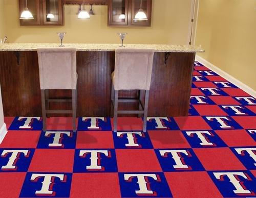 "Texas Rangers MLB Carpet 18""x18"" Tiles"