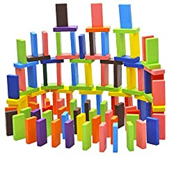 Imported 120Pcs 12Colors Set Authentic Standard Wooden Children Domino Game Fun Toys