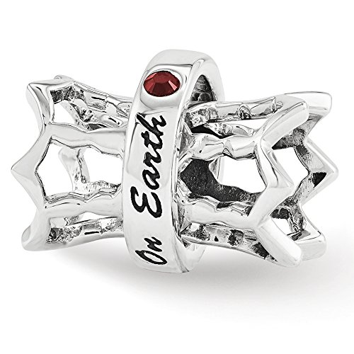 Swarovski Elements Peace on Earth Spinner Charm in Sterling Silver